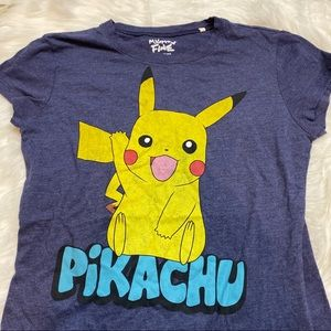 Navy Blue Pikachu Graphic T-shirt XL